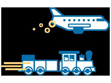 รถไฟ / เครื่องบิน